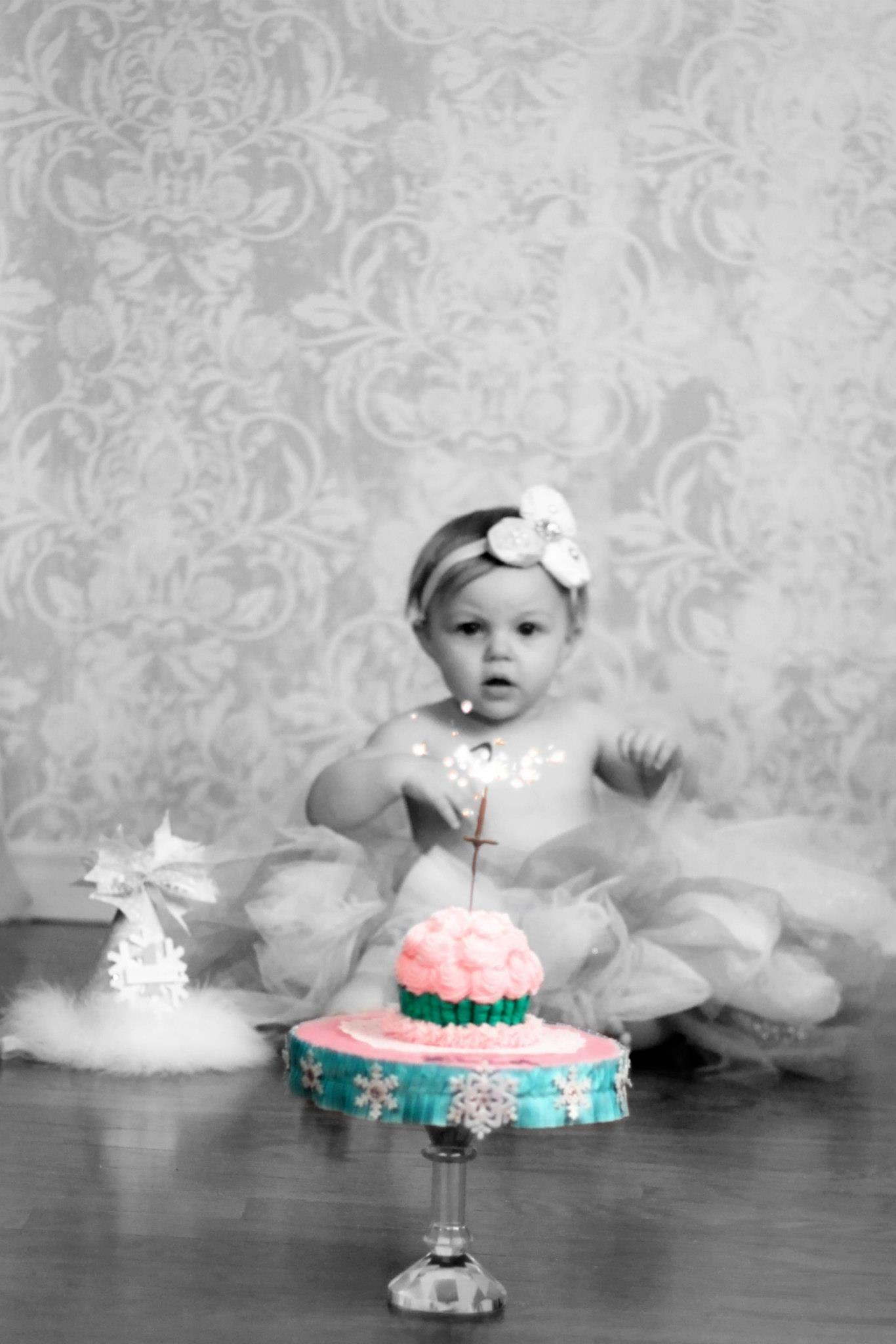 Smash Cake! Ella's 1st Birthday! Winter ONEderland theme