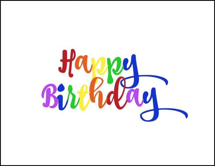 Free rainbow happy birthday printable regalos y fiesta