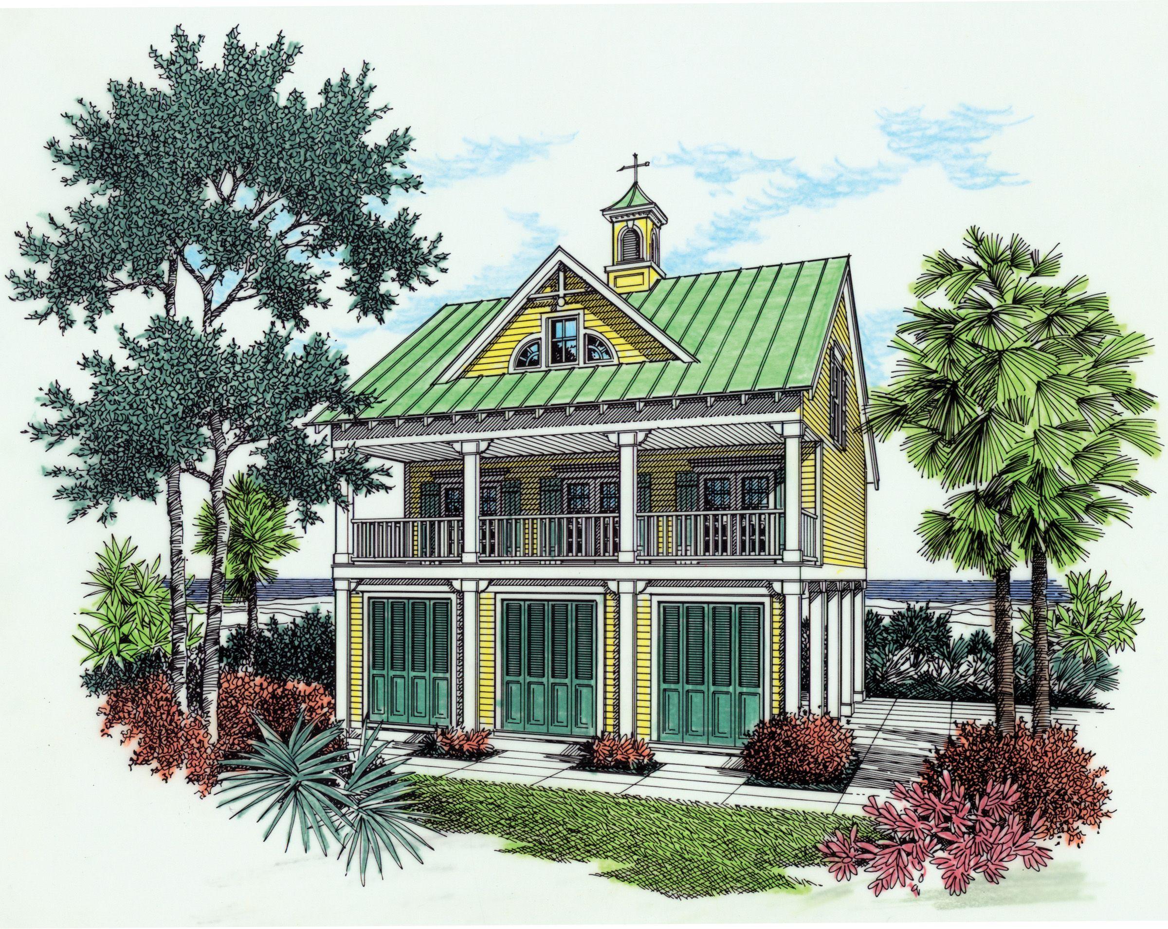 Plan 5572BR: Beach House Plan With Observation Room | Beach house ...