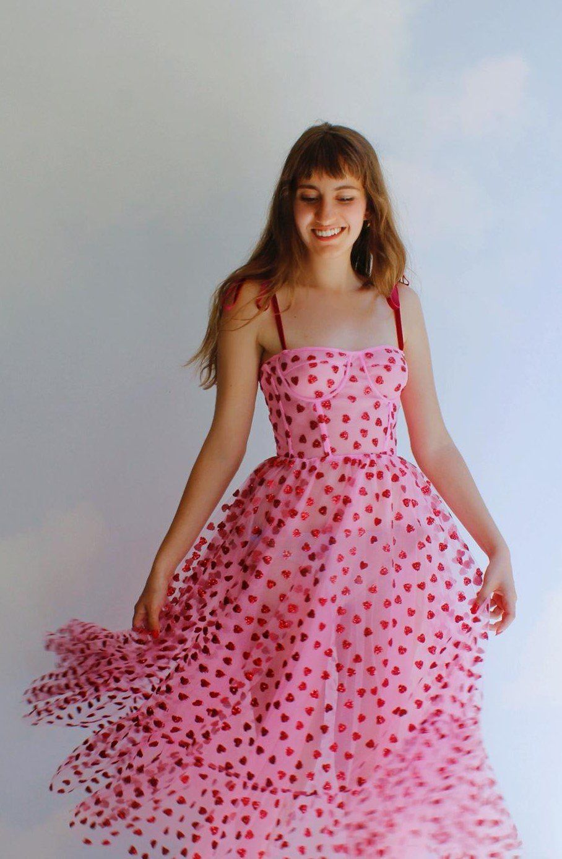 Hearty Corset Midi Dress