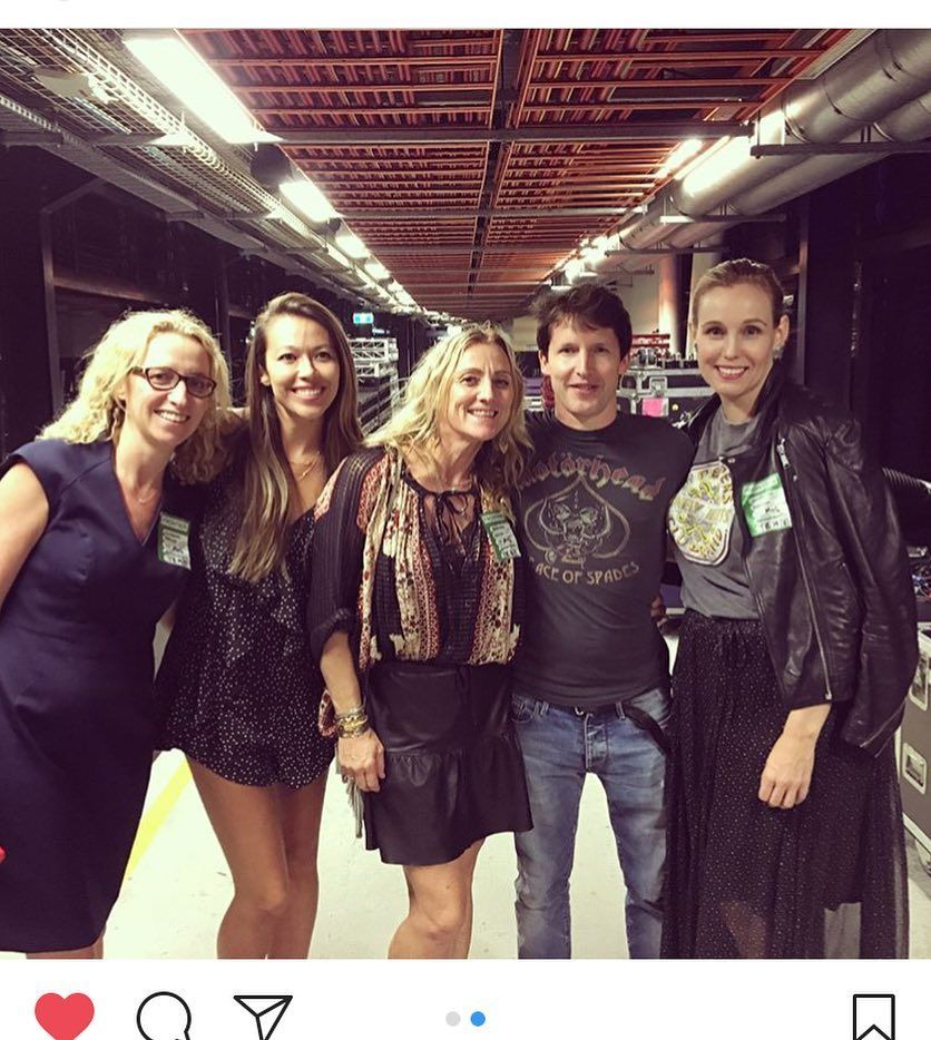 Sharing rockband tees with @jamesblunt #thebeatles