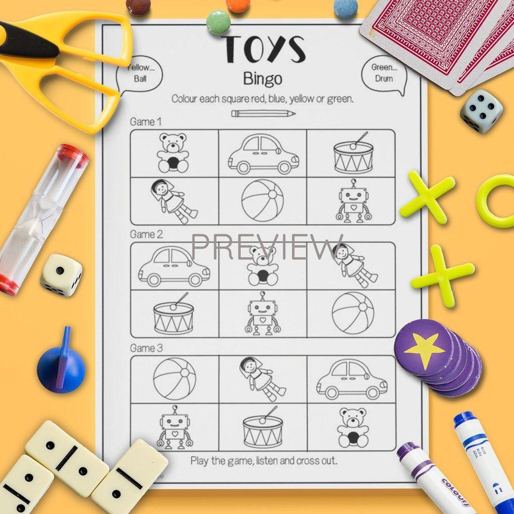 Toys Bingo Game