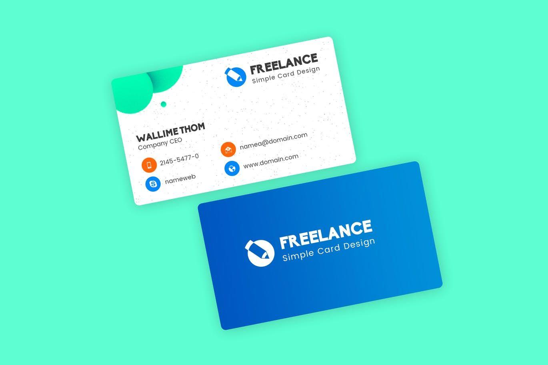 Freelancer Business Visiting Cards Design Template Psd Unlimiteddownloads Freelance Business Card Visiting Card Design Business Card Template