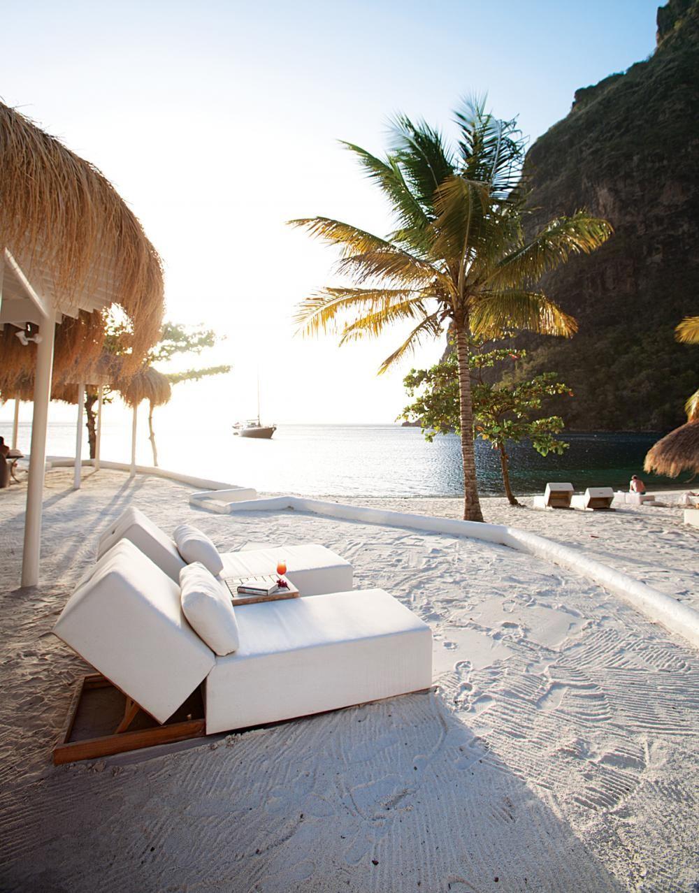 Beach wedding spots  Sugar Beach St Lucia  travel  Pinterest  Sugar beach st lucia