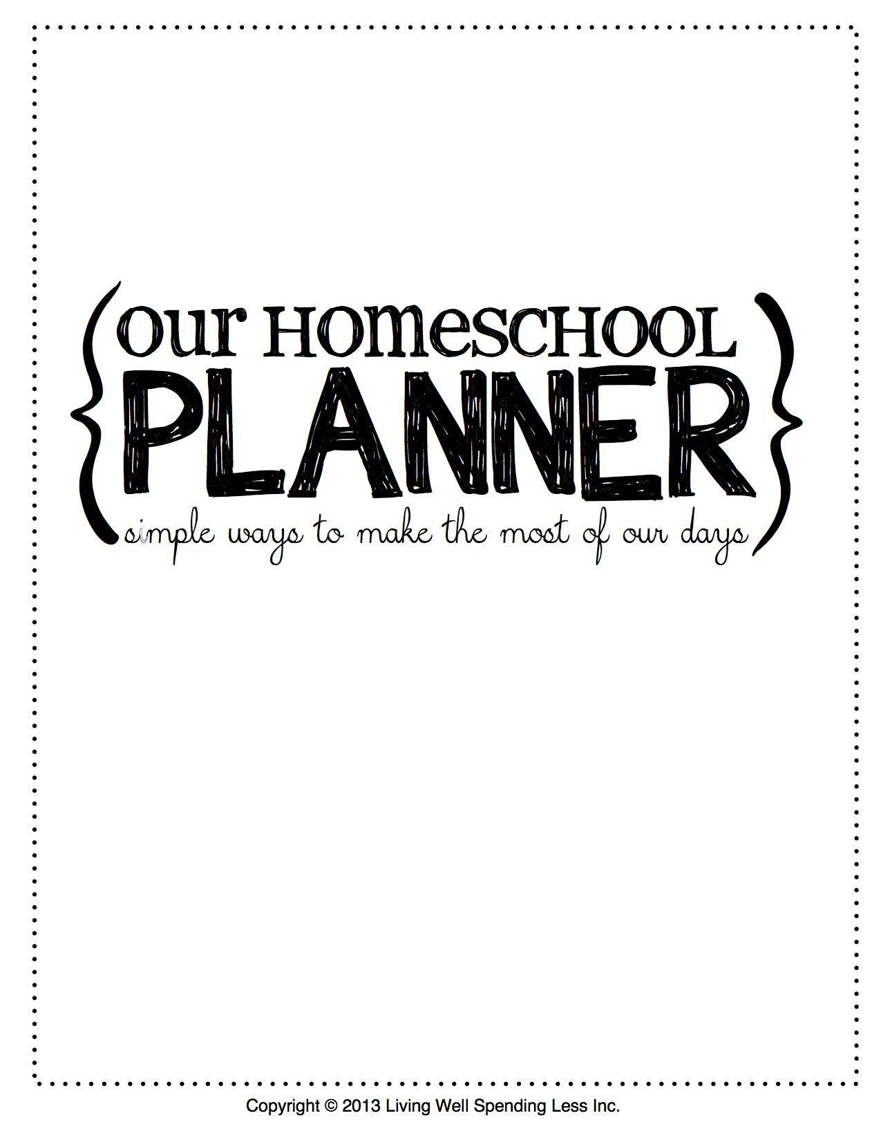 Free Printable Homeschool Planner Printables Homeschool