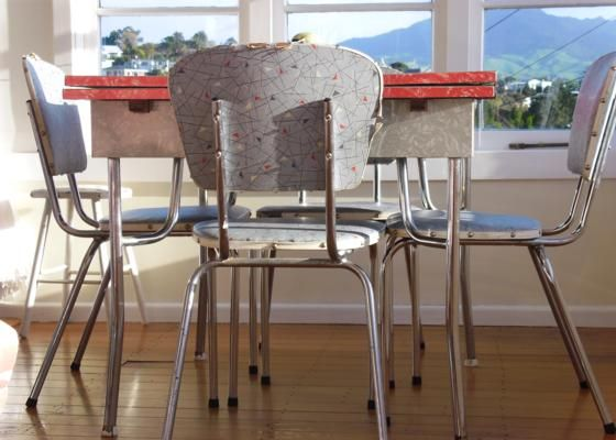 Dining Table Chairs Retro Beach House Dining Table Chairs