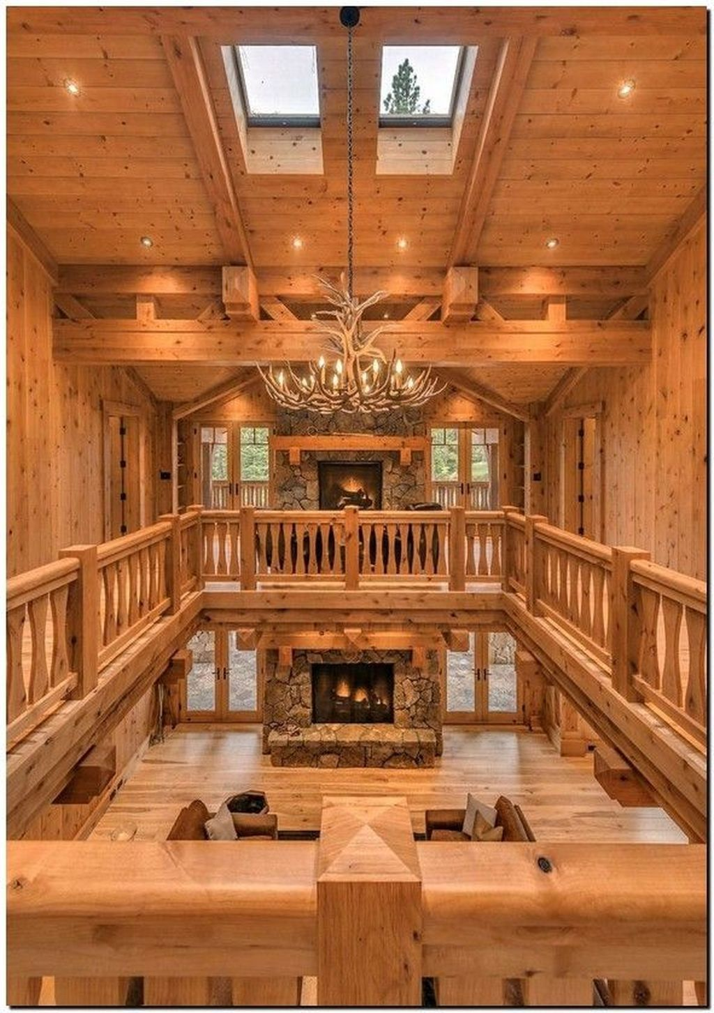 37 Attractive Log Cabin Interior Design Ideas For Tiny House In