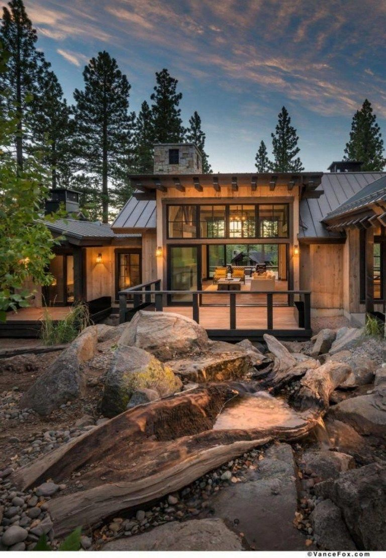 20 Best Of Minimalist House Designs Simple Unique And Modern In 2020 Mountain Home Exterior Rustic Houses Exterior House In The Woods