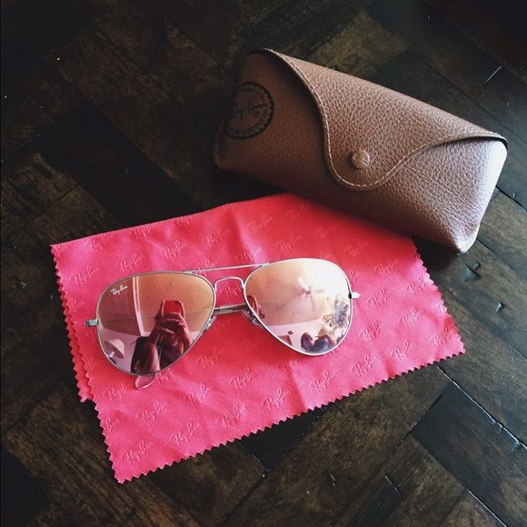 755c501a2bf9a Ray-Ban Aviator Flash Lenses - Copper Flash in GREAT condition! really  really love these