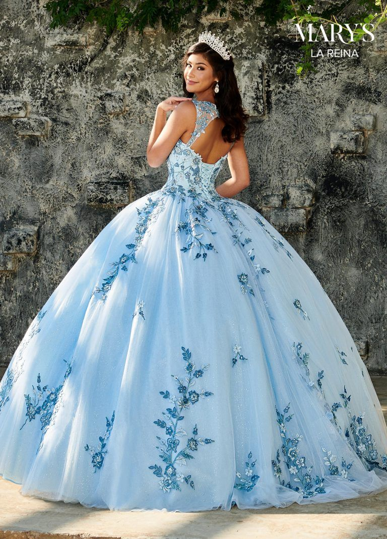 Floral Embroidered Quinceañera Dress by Mary's Bri