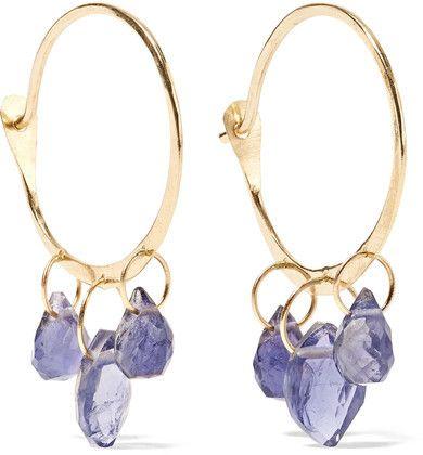 14-karat Gold Amethyst Earrings - one size Melissa Joy Manning