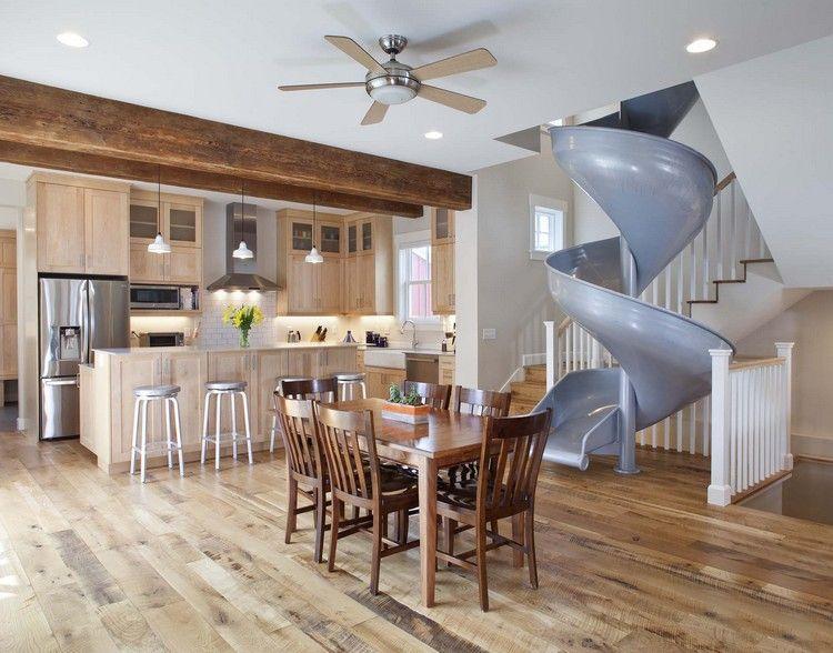 Schöne Wohnideen mit Indoor Rutsche für eine ausgefallene ...
