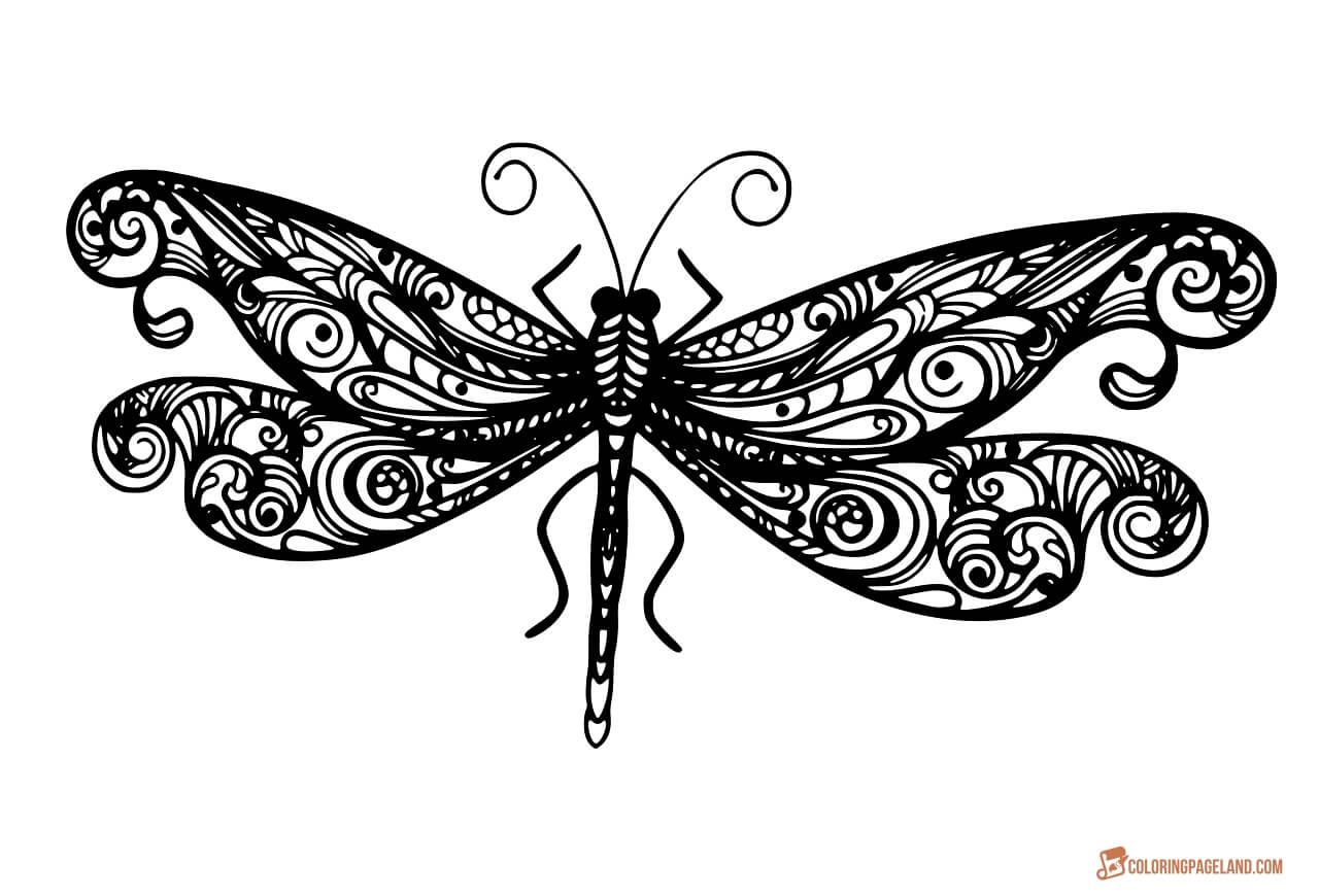 Fozzy Butterfly Coloring Page Mandala Tattoo Butterfly Line Art [ 870 x 1280 Pixel ]