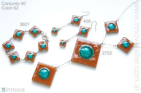 db8413348a24 Bijouterie de vitrofusion - conjuntos - sets - Innova