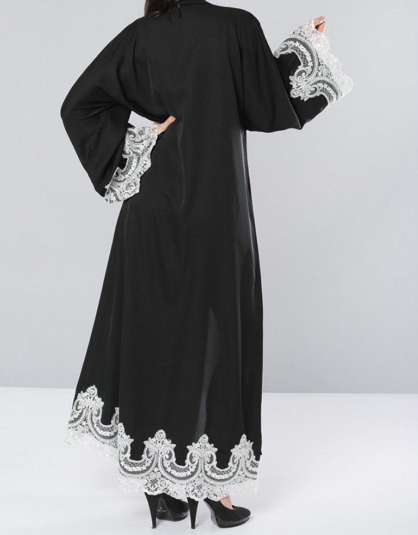 Lace umbrella abaya  Image of Hayaa White Lace Abaya Preorder  abaya  Pinterest
