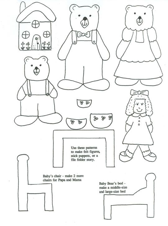 Free Finger Puppet Print Outs For Many Of The Classic Fairy Tales Goldilocks And Three BearsCraft SticksPopsicle