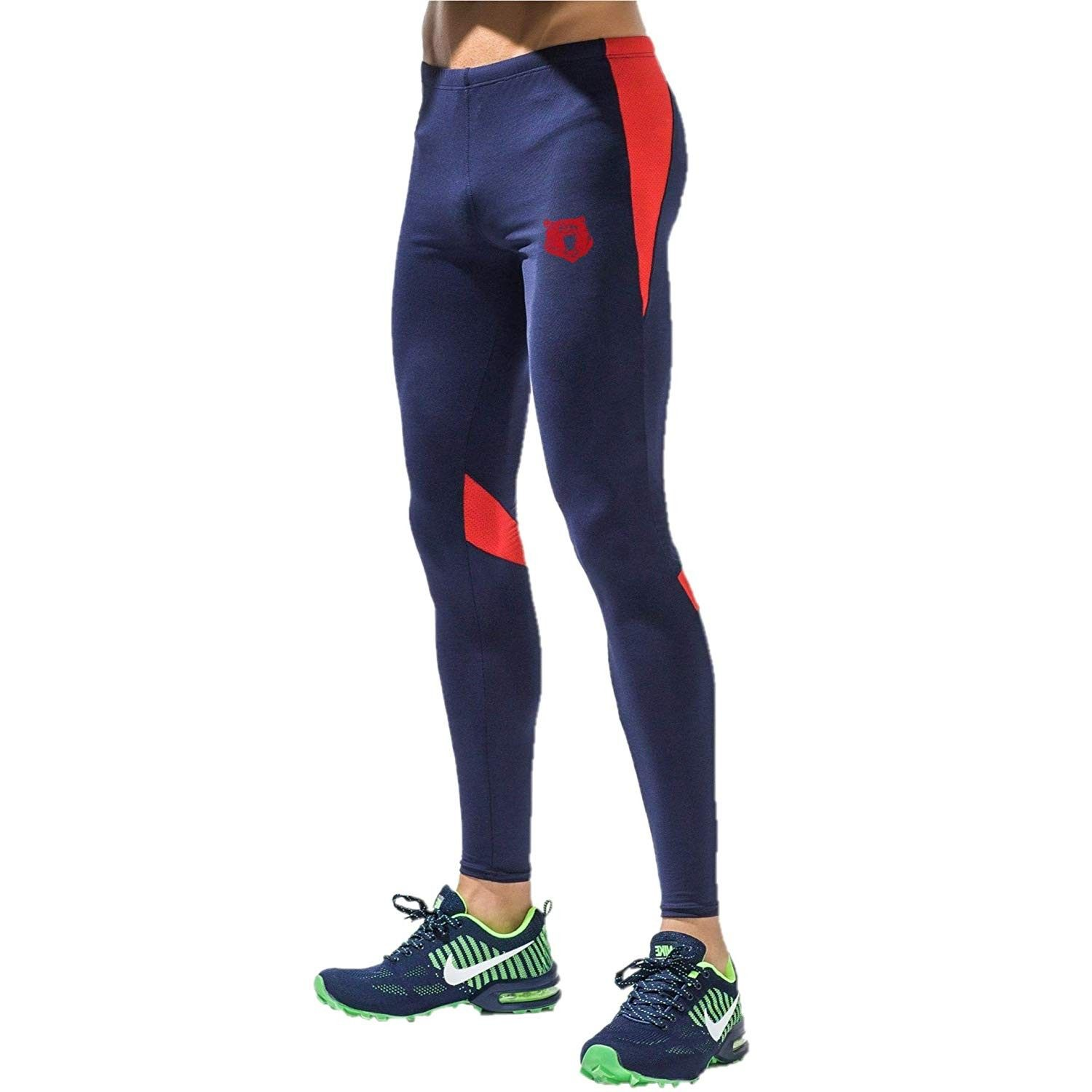 Mens Compression Dry Cool Sports Pants Baselayer Running Leggings Yoga Tight fit