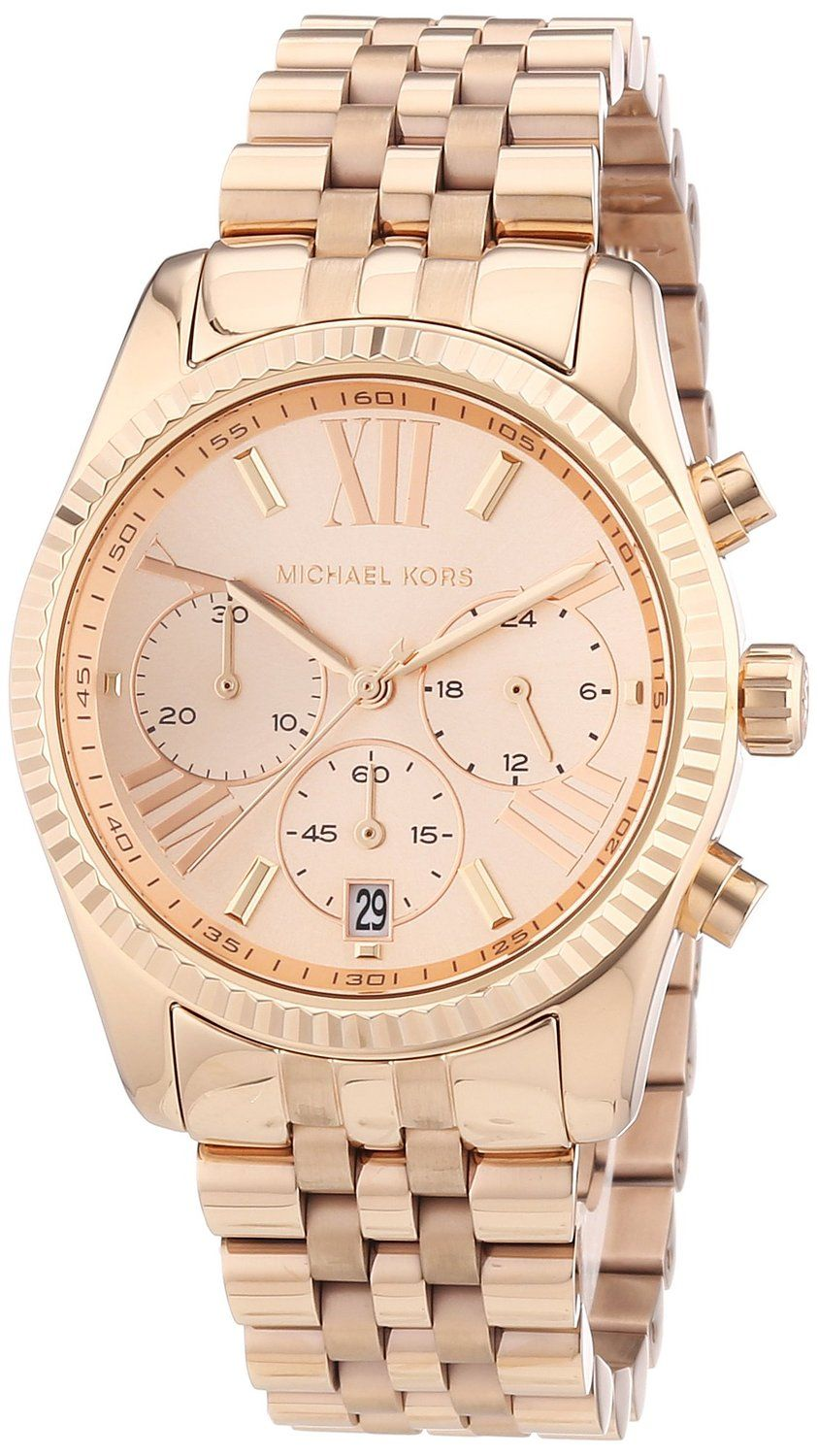 Gold watches for women Michael Kors Pulseiras, Bijuterias, Relógio Feminino,  Michael Kors Rose 719c13e3f7