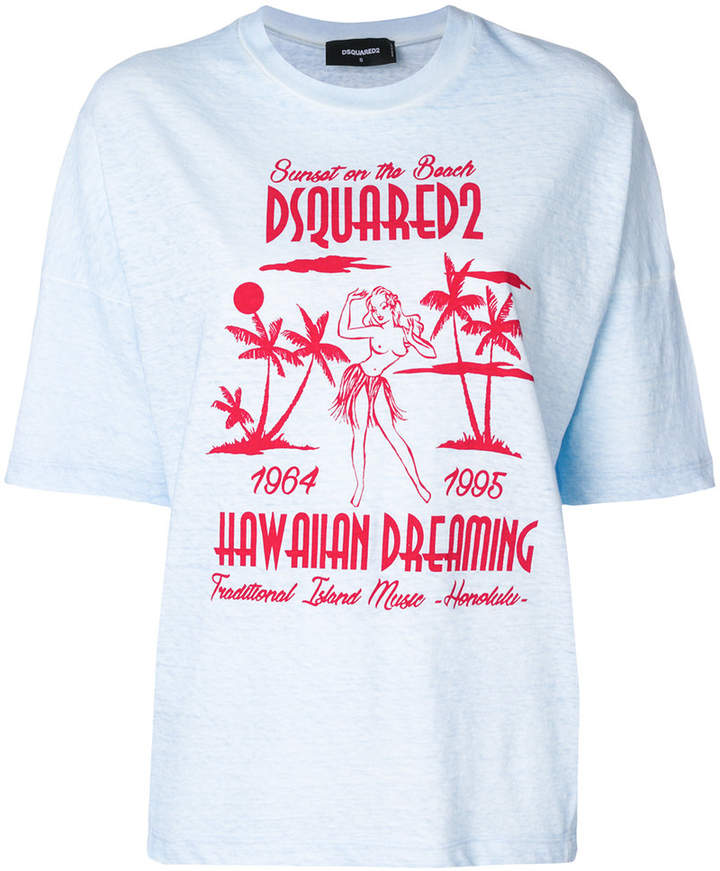 f137bdcc DSQUARED2 Hawaiian Dreaming T-shirt | Products in 2018 | Pinterest ...