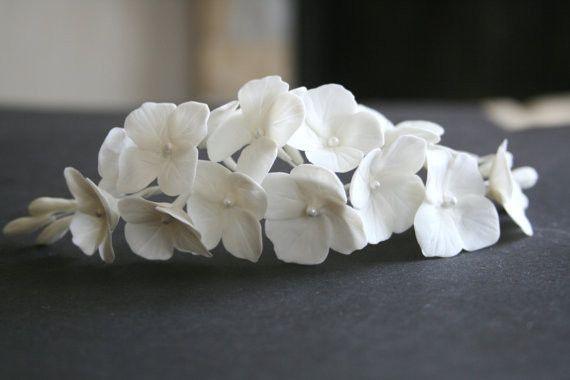 Bruids Flover Kam Hortensia Bruids Haar Bloem Bruid Haar Bloemen Bruiloft Haar Accessoires Bloemen Hoofddeksel