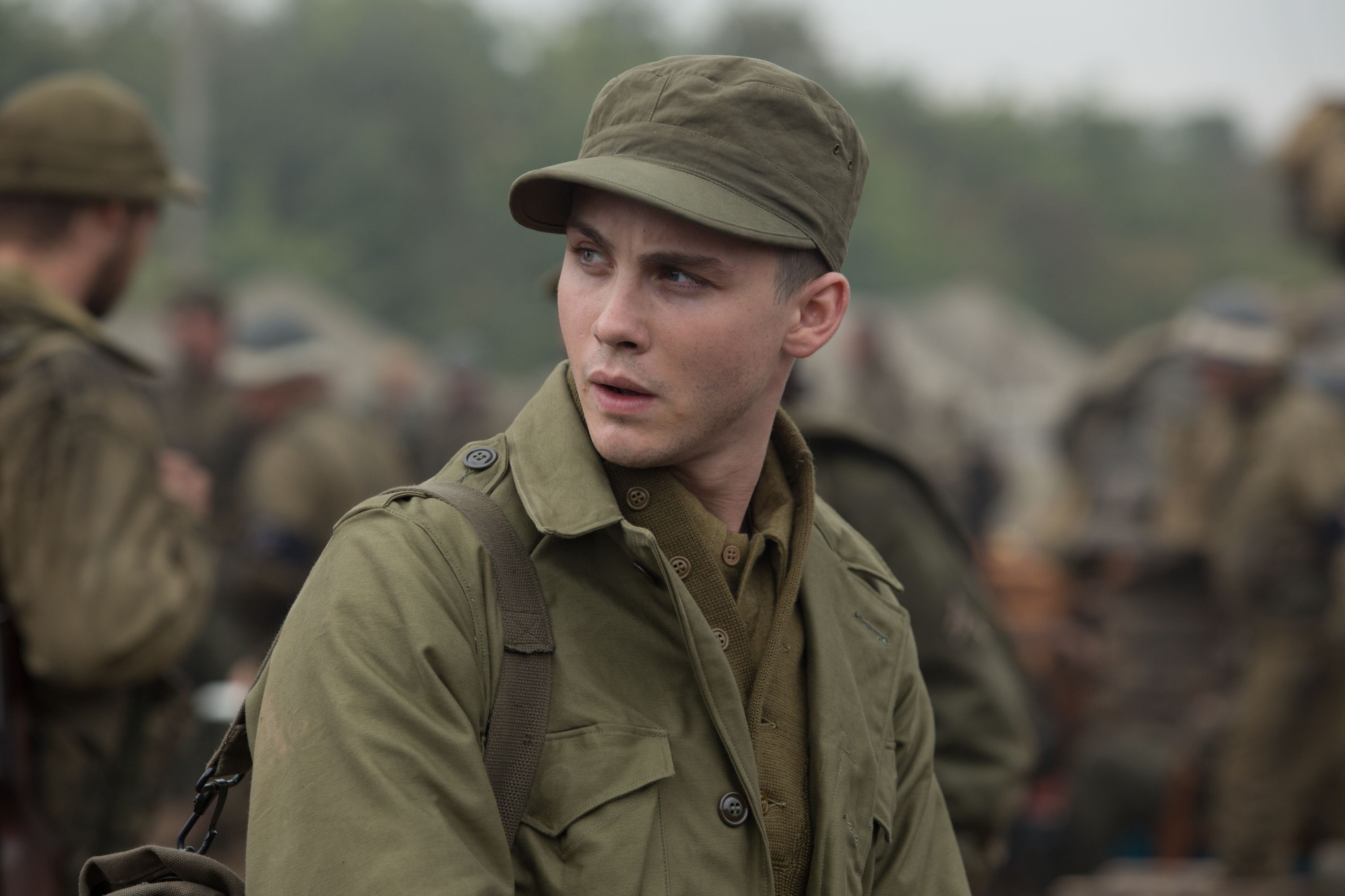 Logan Lerman Fury From David Ayers World War II Tank Film - New official trailer fury starring brad pitt