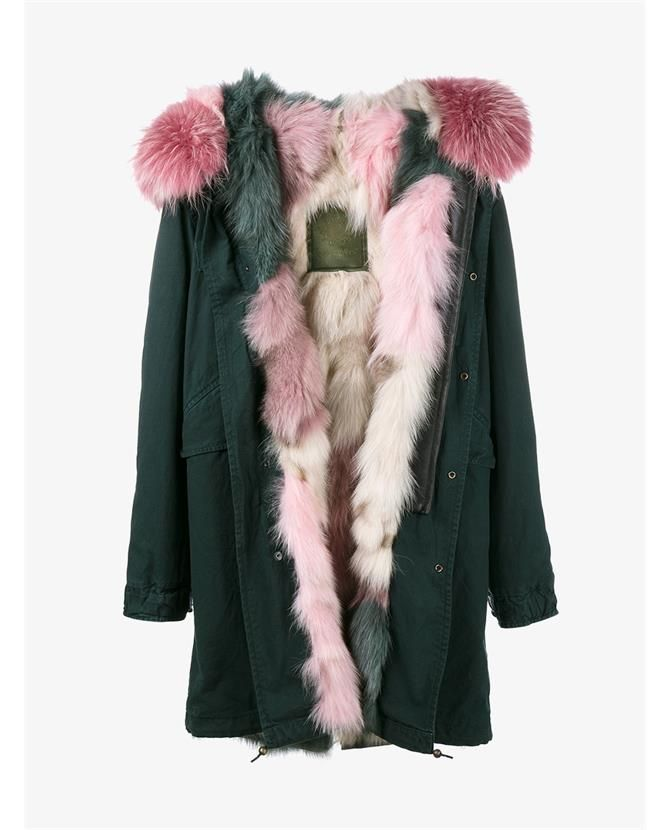 7177bc5c6f69 MR   MRS ITALY Raccoon Fur Trimmed   Fox Fur Lined Parka.  mrmrsitaly   cloth
