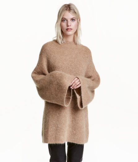 Check this out! Oversized sweater in soft knit fabric with mohair ...