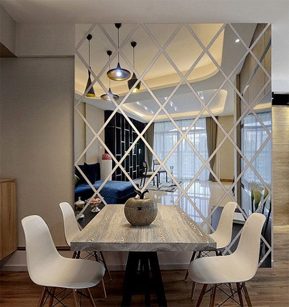 Wall Mirror Panels this wall decal is made from acrylic mirrors; like a mirror but