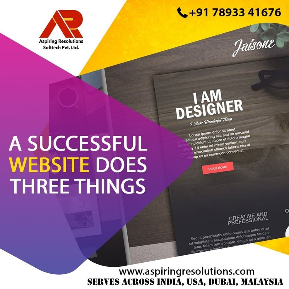 A Successful Website Does Three Things It Attracts The Right Kinds Of Visitors Guides Them To The Ma In 2020 Infographic Video Digital Marketing Services Web Design