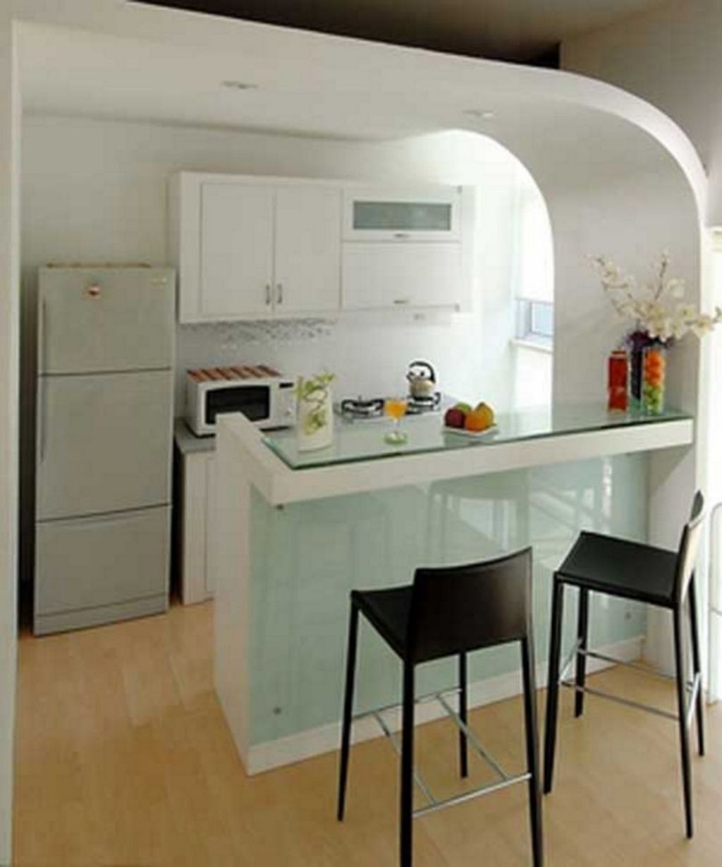 Desain Dapur Dengan Mini Bar In 2020 Kitchen Sets Kitchen