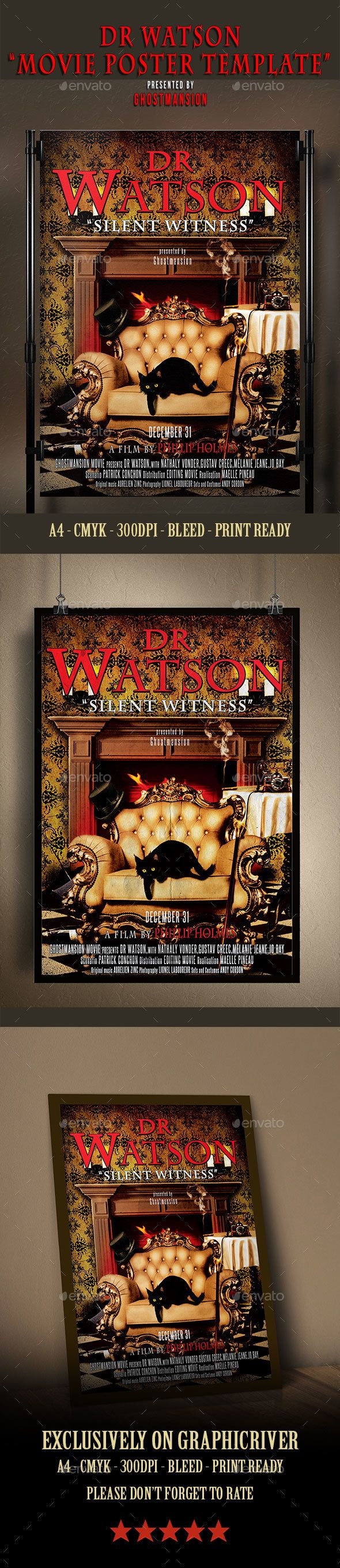Dr Watson Movie Or Theater Poster Template