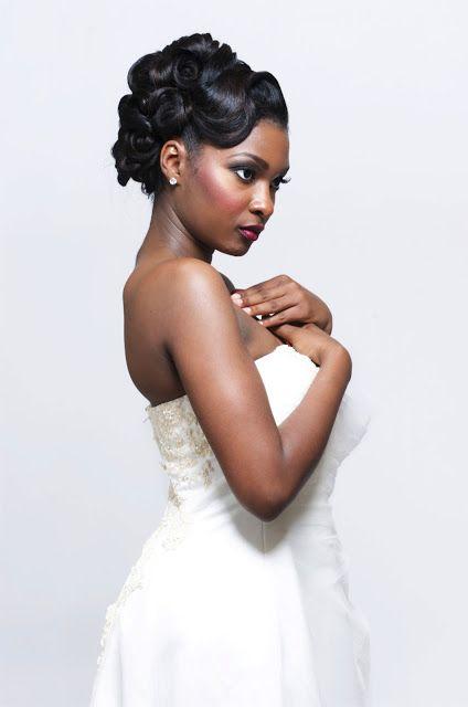 African American Black Bride Wedding Hair Natural Hairstyles African American Bridal Makeup