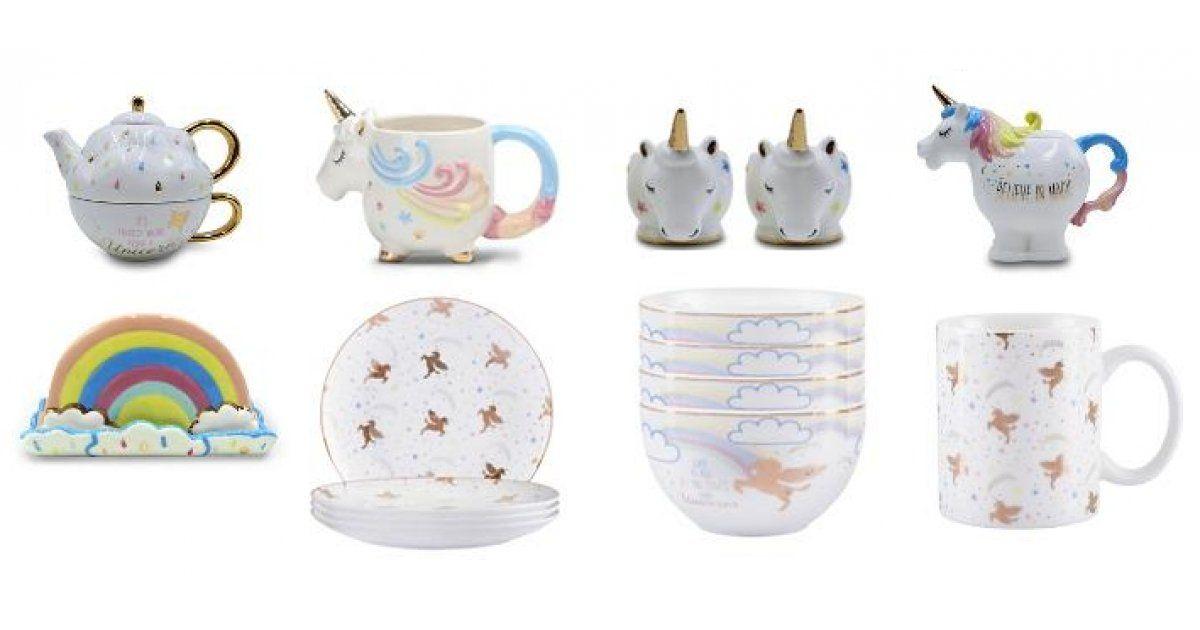 New Unicorn Tableware Including Teapot From 3 Asda George Tableware Tea Pots Unicorn
