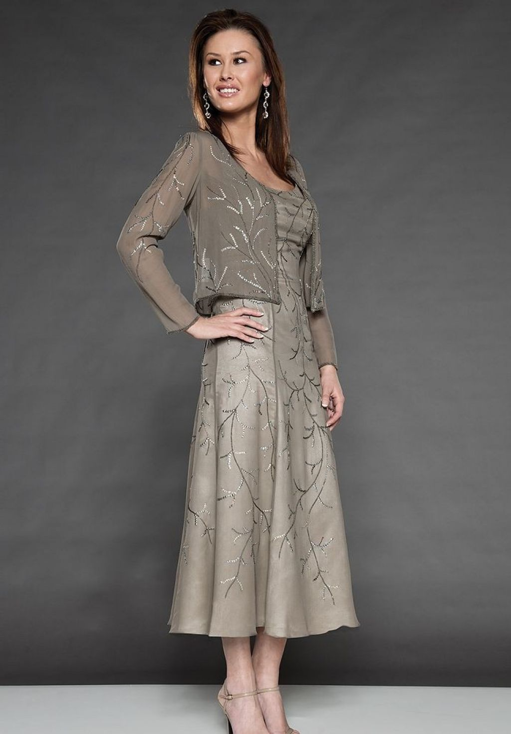 c6abda484a mother of the bride tea length summer dresses, barn wedding - Google Search