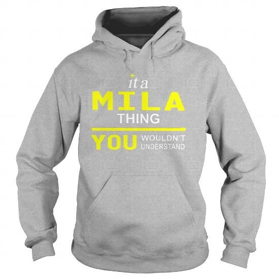 d474e7024 Make this funny name shirt TeeForMila Mila Thing New Cool Mila Name Shirt  as a great