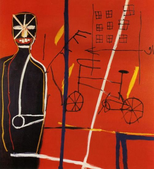 "topcat77: "" Jean-Michel Basquiat Pedestrian 1, 1984 acrylic, oil stick/canvas """