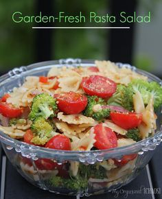 Garden-Fresh Pasta Salad, a fresh way to eat a pasta salad that is full of the nutritious stuff!