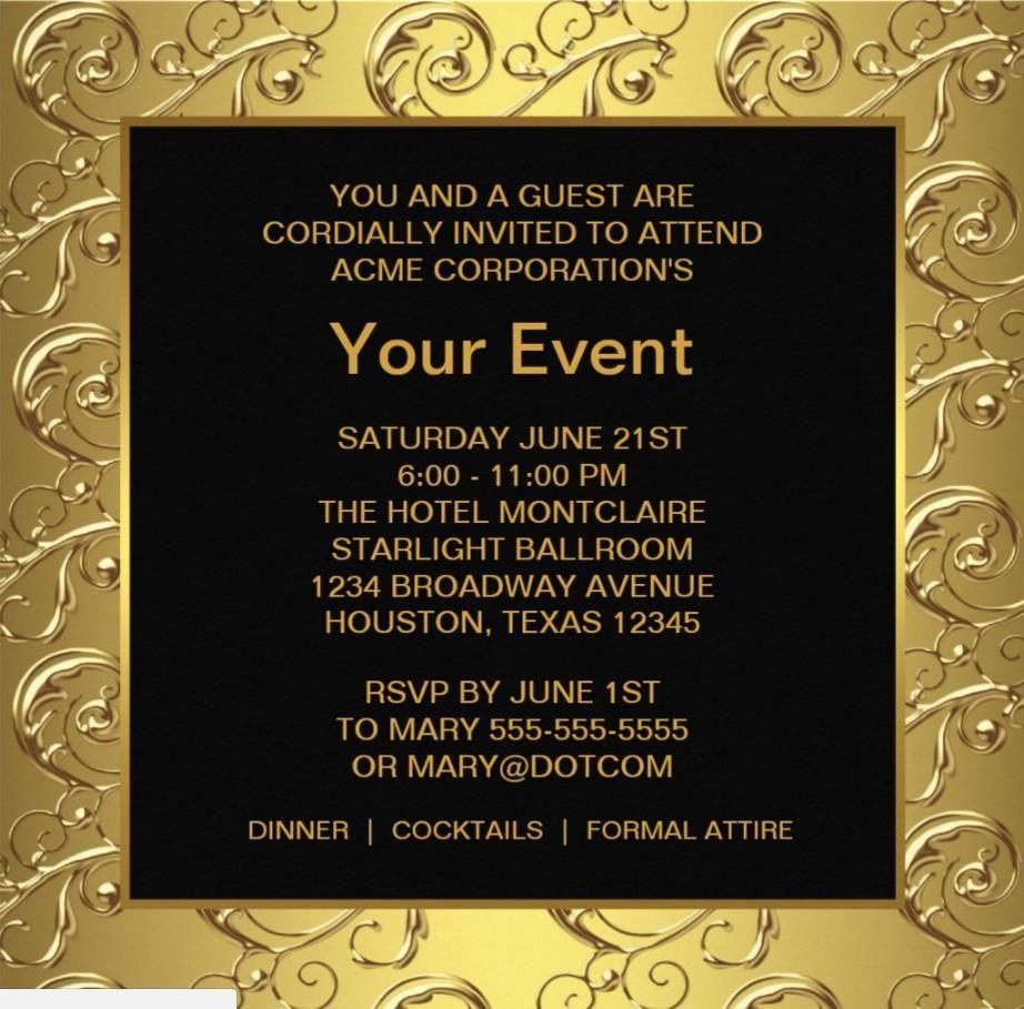 Corporate Invitation Template baby shower invite template business ...