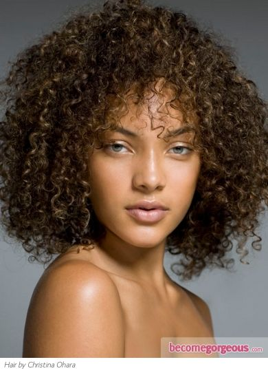 Medium To Long Super Curly Hairstyles For Black Women Or