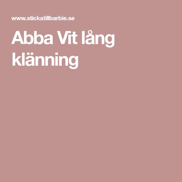 Abba Vit lång klänning
