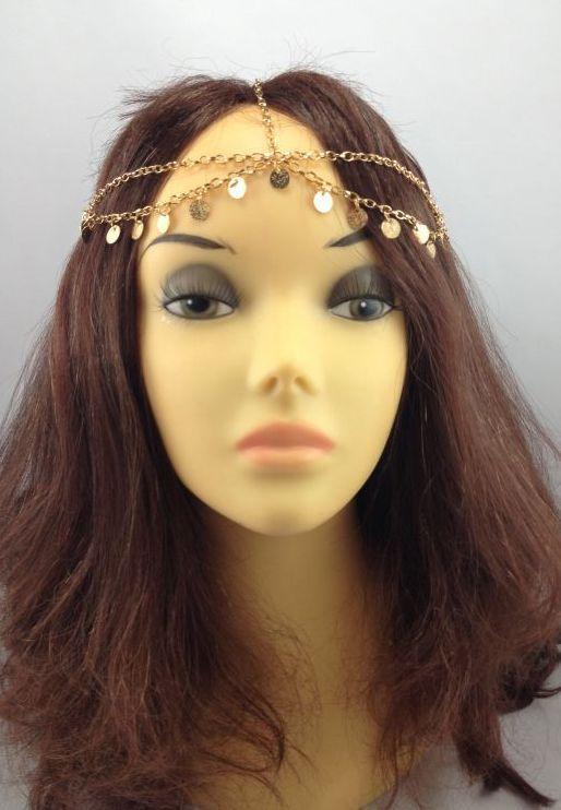 Gold Dangle Hair Chain Hair chains Hair jewelry and Dangles