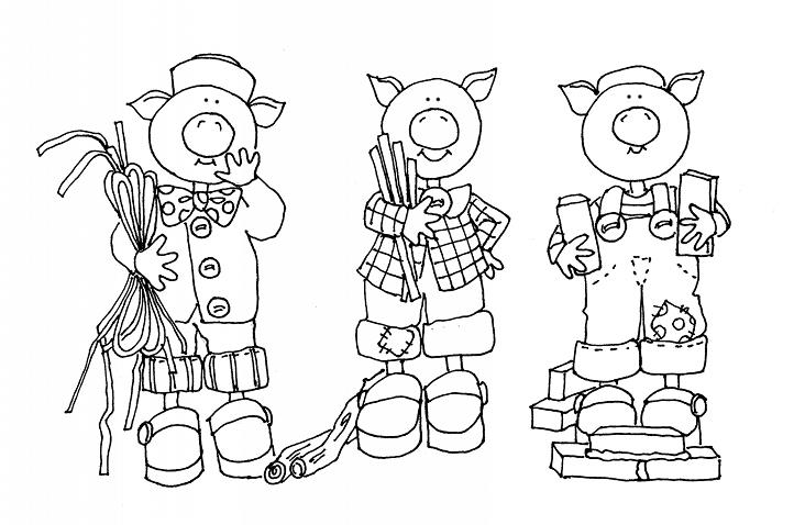 Resultado de imagem para sequencia das cenas da historia dos 3 porquinhos