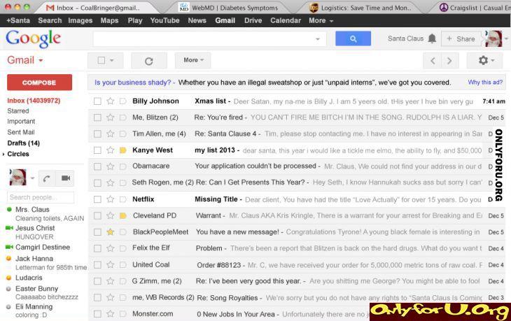 Santas Email Onlyforu Funny Lol Fun Humor Rofl Gif
