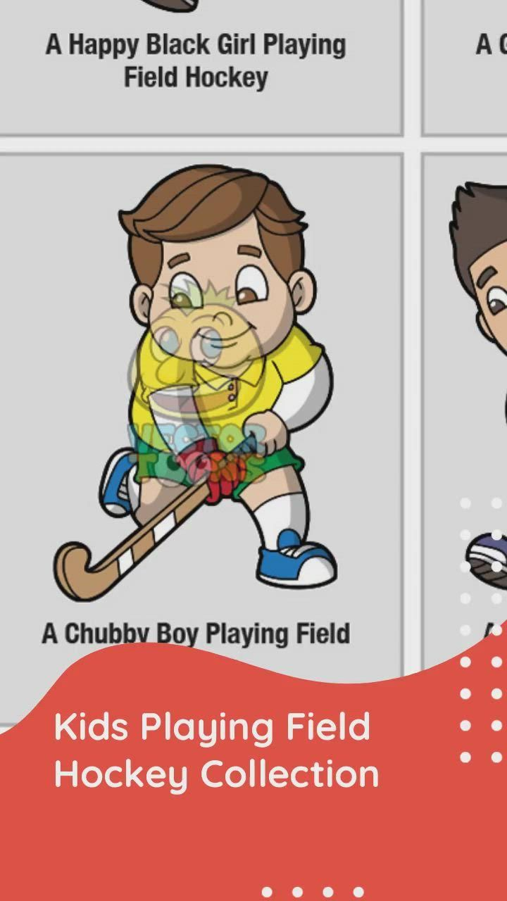 Kids Playing Field Hockey Clipart Cartoons Video In 2020 Happy Black Kids Playing Girls Play