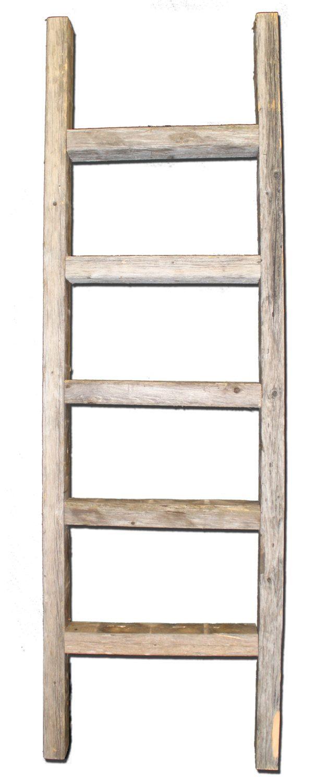 Decorative Ladder - Reclaimed Old Wooden Ladder 4 Foot ...