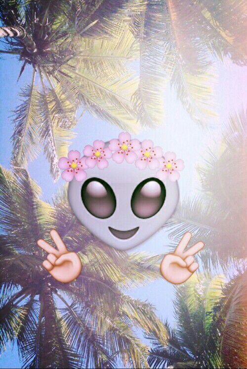 Alien Emoji Iphone Wallpaper