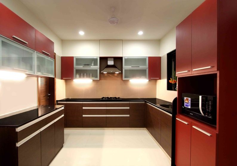 large kitchen with drawers and cabinets finish in veneer overhead cabinet finish in aluminum profile. Interior Design Ideas. Home Design Ideas