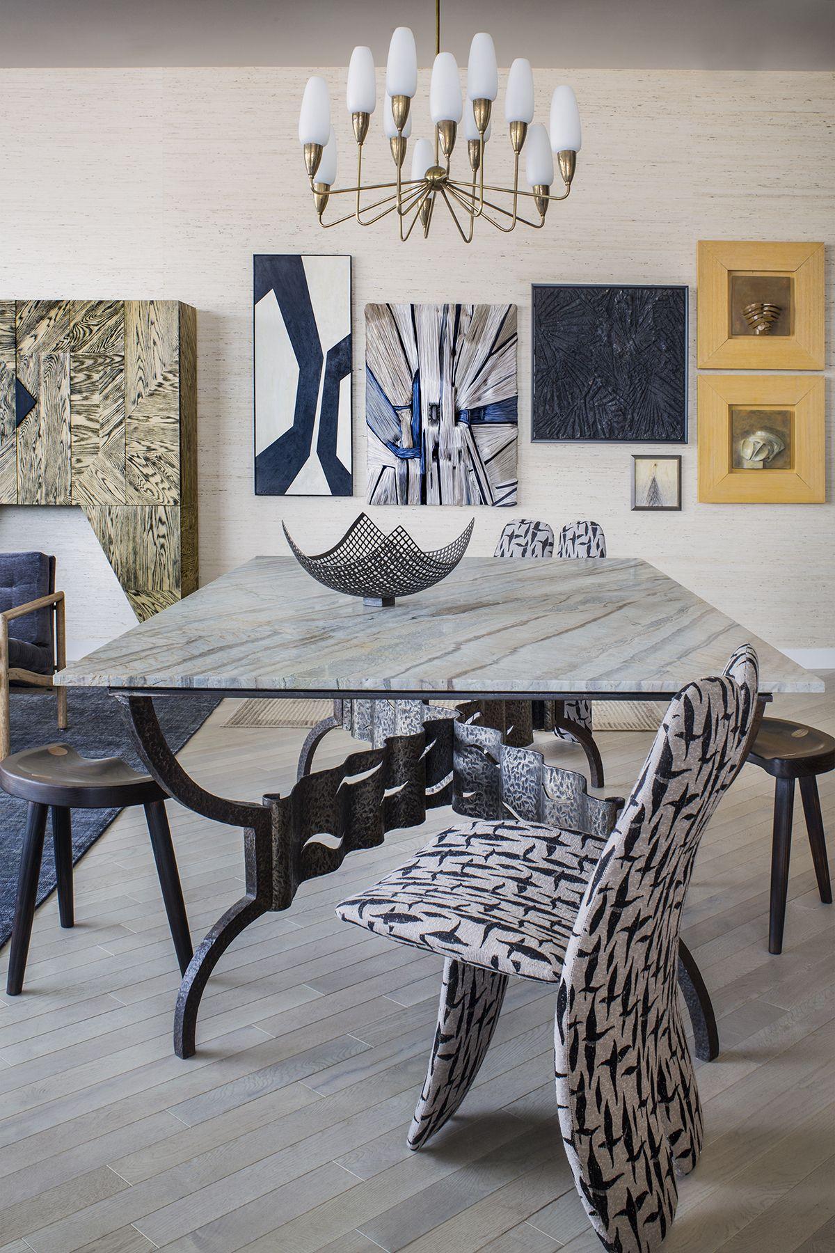 Kelly Wearstler Interiors Dining, Kelly Wearstler Dining Room Chairs