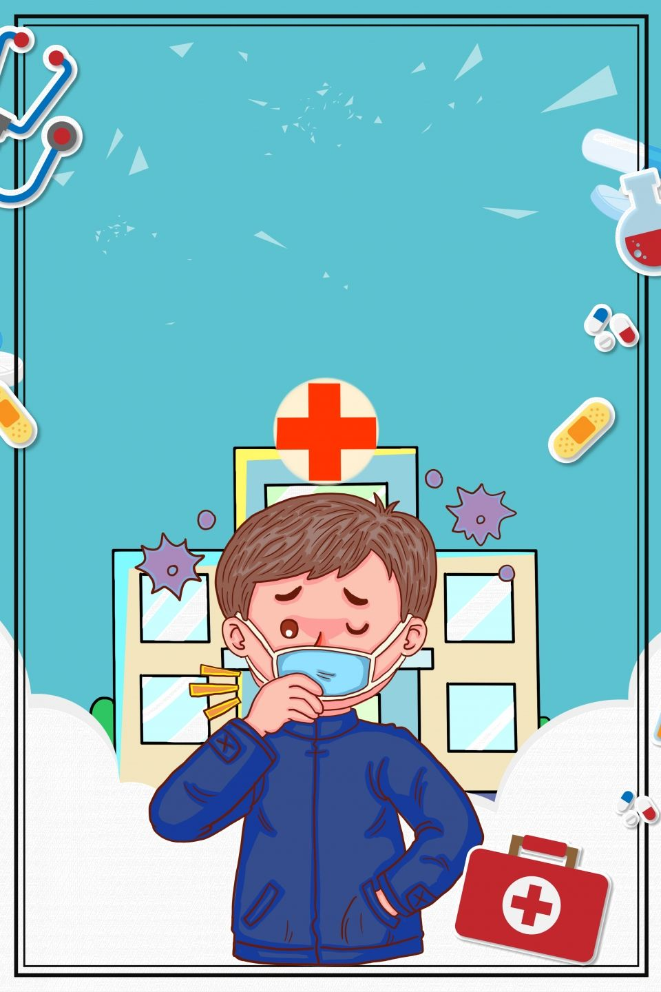 Cold Cough Hospital Culture in 2020 Hospital cartoon