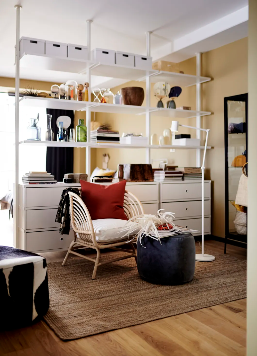 7 Genius Small Space Organizing Tips To Steal From The 2020 Ikea Catalog In 2020 Small Spaces Open Plan Living Room Small Space Organization